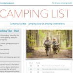what to pack camping checklist