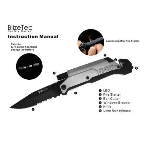 blizetec rescue survival knife
